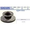 Диск тормозной вентелируемый GIGANT 335мм*165мм на 6 шпилек